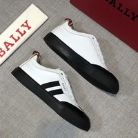 BALLY autumn and winter new trend wild men's low cut casual shoes