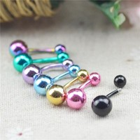 14 G Body Piercing Jewelry Bar Barbell Navel Belly Button Ring