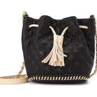 Black Quilted Crossbody