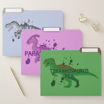 T-Rex and Friends File Folder