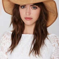 Like It's Hot Floppy Suede Hat
