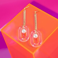 Madame Bijoux Clear Earrings