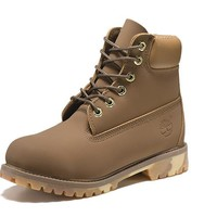 Best Deal Online Timberland 10061 Leather Lace-Up Boot Men Women Shoes Khaki
