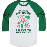 This is My Home-Unisex White/Evergreen T-Shirt