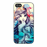 ariel little mermaid painting beautifull case for iphone 5 5s