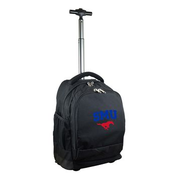 Southern Methodist Mustangs Wheeled Premium Backpack