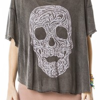 Angie Skull Top