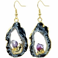 Geode Druzy Dangle Earrings
