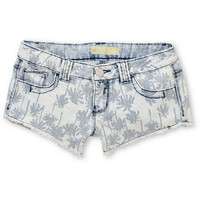 Almost Famous Palm Tree Light Washed Blue Denim Shorts at Zumiez : PDP