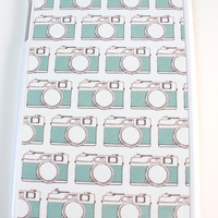 Turquoise Cameras Tablet Case