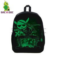 Japanese Anime Bag Cool  One Piece Fluorescence Backpack School Backpack Womens Mens Travel Backpack Teens Boys Girls Luffy Zoro School Bag AT_59_4