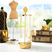 Laurel Necklace Stand, Gold