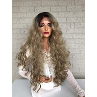 """Blonde Ombré Hair SWISS Lace Front Wig 26""""  Blind in Love 319"""