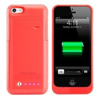 Walmart: 2200mAH External Battery Case with Kickstand for Apple iPhone 5C - Pink
