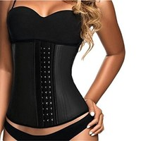 YIANNA Women's Latex Sport Girdle Waist Training Corset Waist Shaper