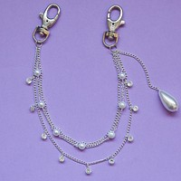 Dainty Pearl Pocket Chain