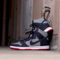 "Nike SB Dunk High TDR ""Denim"" QS  881758-441 Size 36----45"