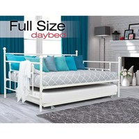 DHP Manila Full Daybed and Twin Trundle, White - Walmart.com
