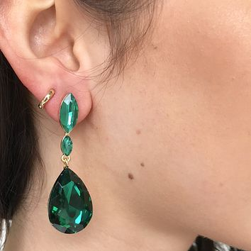 Seize The Day Emerald Drop Earrings