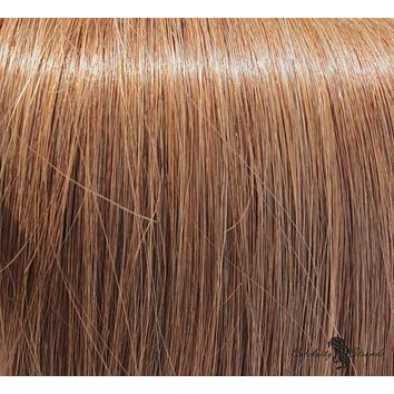 """18"""" Clip In Remy Hair Extensions: Light Brown No. 8"""