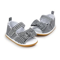 Newborn Baby Girls Bow Anti-slip Crib Shoes Prewalkers
