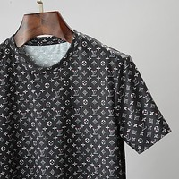 LV 2020 new full printed logo round neck half sleeve T-shirt