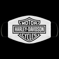 Harley Davidson Motorcycles Logo Black and White Face Mask Face Covering