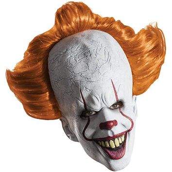 Pennywise Overhead Mask with Attached Hair - IT