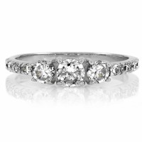 Marlow's Round Cut 3 Stone Promise Ring