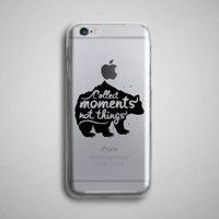 Collect Moments Bear Clear iPhone 8 Case
