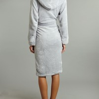 Linea Cosy soft robe Grey - House of Fraser