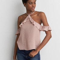 AEO Cold Shoulder Top, Mauve