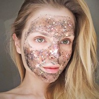 Women's Fashion cosmetic New Glitter Glow Star Sequin Black Face Mask Peel off Moisturize Skin Health Drop Shipping 3J03
