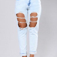 Lizzi Boyfriend Jeans - Light Blue