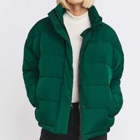 Light Before Dark Cropped Quilted Jacket - Urban Outfitters