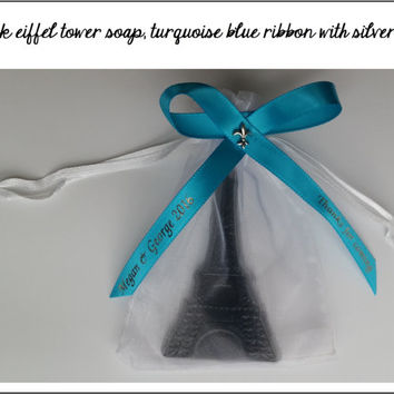 Eiffel Tower Soap Party Favors - Post Bridal Shower Wedding Favors Paris Theme Baby Shower Sweet 16 - Pack of 10