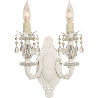 Arte Italia White Double Sconce