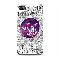 5SOS Quote nebula for iPhone Case (iPhone 4/4s Black case)