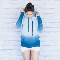 Blue Ombre Pullover Hoodie
