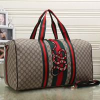 Gucci Women Fashion Leather Embroidery Luggage Travel Bags Tote Handbag-3