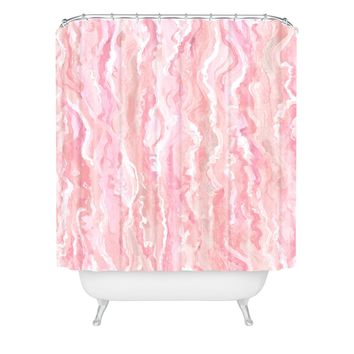 Lisa Argyropoulos Soft Blush Melt Shower Curtain