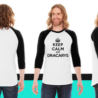 keep calm and Dracarys (Game of Thrones) American Apparel Unisex 3/4 Sleeve T-Shirt