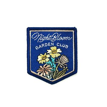 Night Bloom Garden Club Embroidered Patch