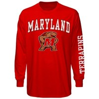 Maryland Terrapins Big Arch N' Logo Long Sleeve T-Shirt – Red