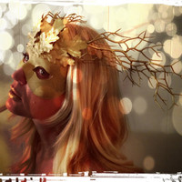 Masquerade Mask- Golden Fawn