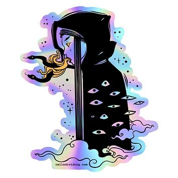 Witch, Holographic Sticker