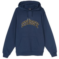 Chenille Arch Hood in Navy