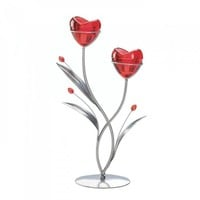 Two Hearts In Bloom Candleholder