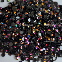Jelly Black LASER Gold Rose AB 3mm crystal facet resin Flat Back Rhinestones 1000pcs Nail art Candy beads #15