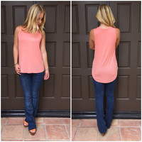 Short Stop Jersey Tee in Coral